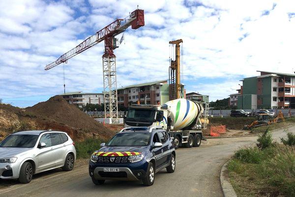 Contrôle de chantier à Dumbéa-sur-mer, juin 2020
