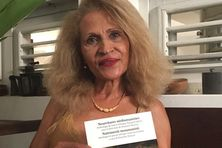 """L'écrivaine martiniquaise Suzanne Dracius, auteur de l'ouvrage """"Nourritures néohumanistes""""."""