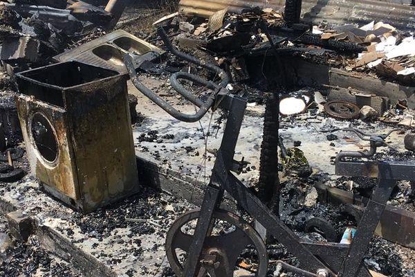 Lendemain d'incendie à Blanchard Abymes