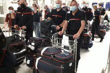 Arrivée de nouveaux renforts de pompiers en Martinique.