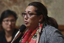 La députée de Polynésie, Maina Sage, à l'Assemblée nationale (juillet 2017).