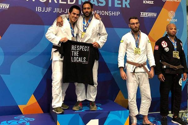 Le podium des World Master IBJJF à Las Vegas
