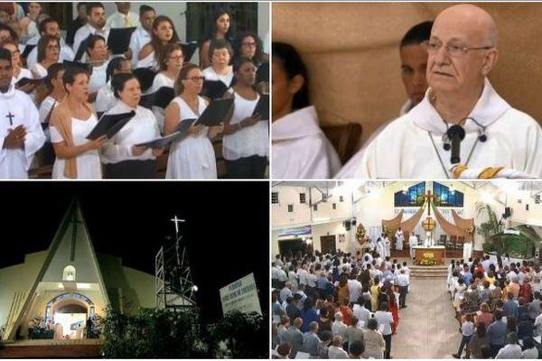 L'évêque de La Réunion a célébré la traditionnelle messe de Noël devant de nombreux fidèles