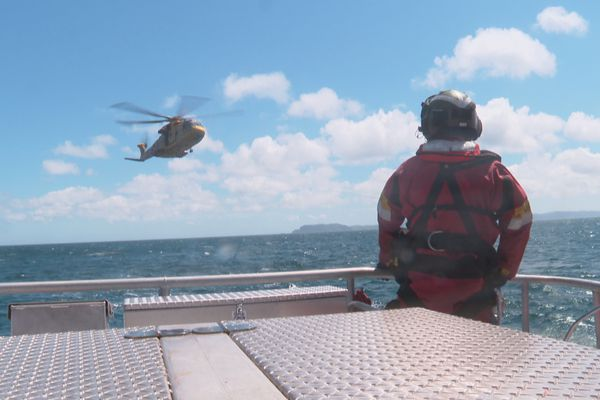 exercice sauvetage en mer