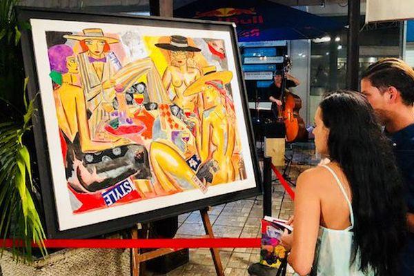 Les peintres locaux inspirés par l'univers du vin ( Les dames galantes - Tehina)