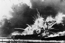 La France bombardée par l'armée allemande pendant la seconde guerre mondiale.