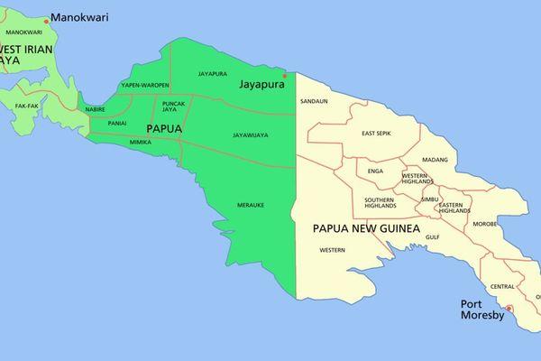 Carte de Papouasie