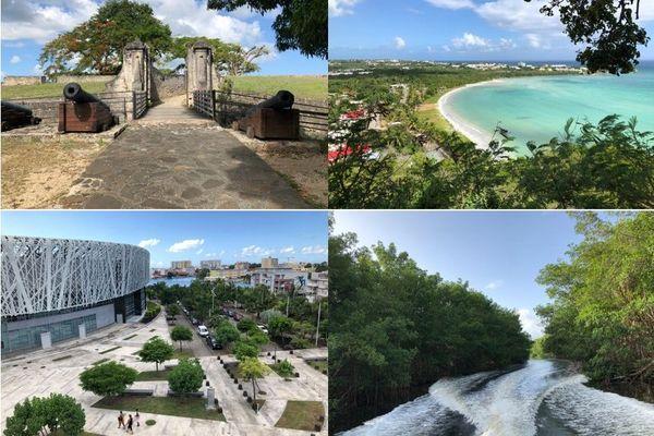 Montage sites touristiques de Guadeloupe
