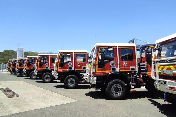 camions pompiers neufs calédonie sécurité civile