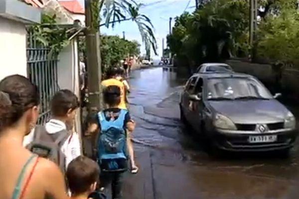 Rue Schweitzer inondée