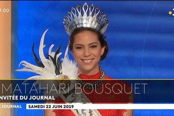 Matahri Bousquet en interview exclusive sur le plateau  TV de POLYNESIE la première