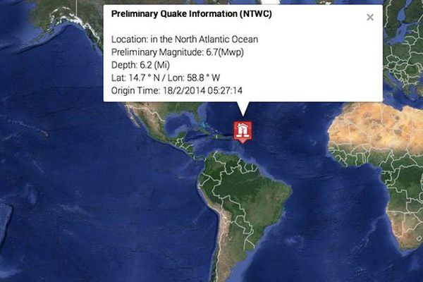 séisme Antilles