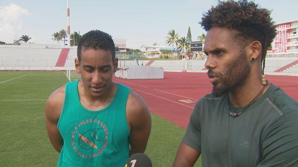 Marvin Delaunay-Belleville (à droite) tentera de rééditer ses 7m23 à la longueur.