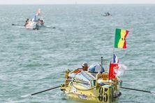 Le bateau du skipper Gérard Marie, au départ de Rames Guyane 2014 à Dakar, le 18 octobre 2014.