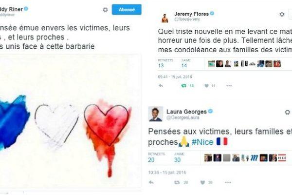 L'émotion et la tristesse partagées sur les réseaux sociaux par les personnalités d'Outre-mer