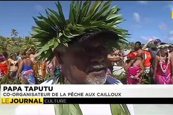 Grande pêche traditionnelle au caillou à Maupiti