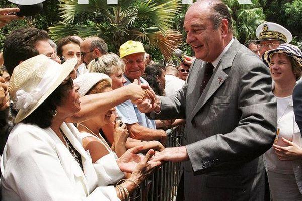 chirac à a La Réunion