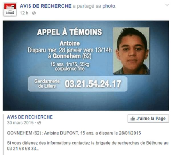 Disparition Antoine Dupnt, Réunionnais