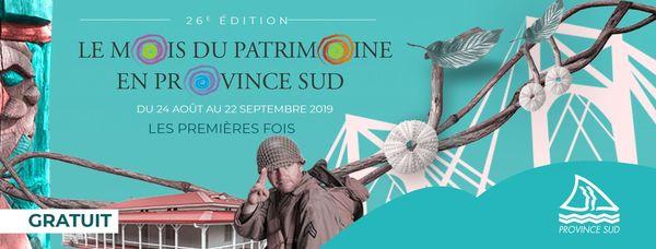 Affiche Mois du patrimoine 2019 province Sud