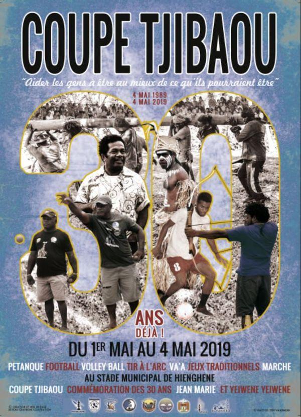Affiche de la coupe Tjibaou 2019