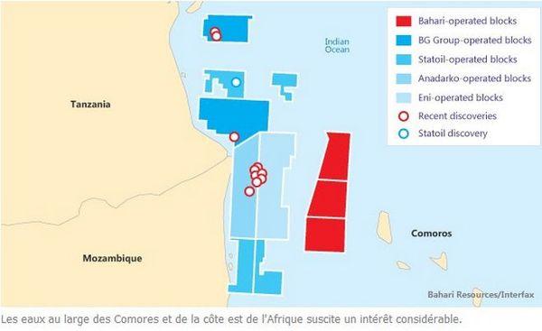 Carte des réserves de pétrole