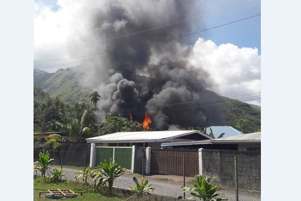 Incendie maison Paea