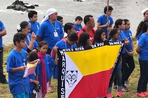Les élèves de Hakahetou, Ua Pou