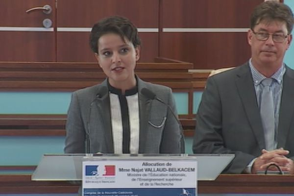Najat Vallaud-Belkacem au Congrès