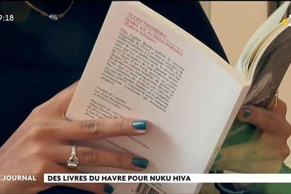 Le Havre donne des livres à Nuku Hiva