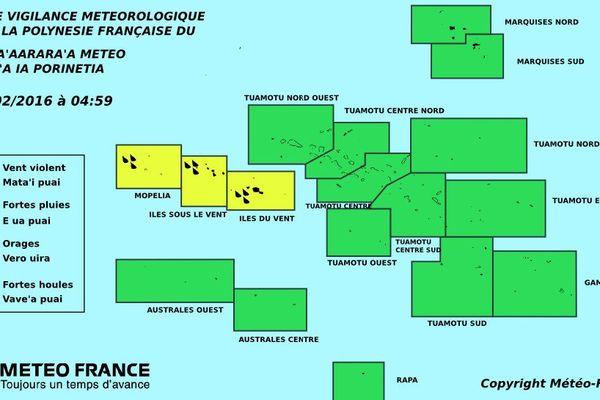 Vigilance jaune pour les fortes pluies aux IDV