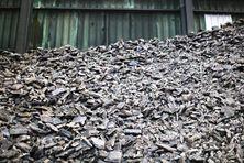 Mattes de nickel de la SLN dans l'usine Eramet du Havre. La production a été abandonnée