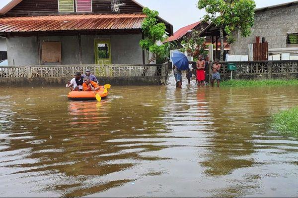 le village Saramaka de Kourou ce matin