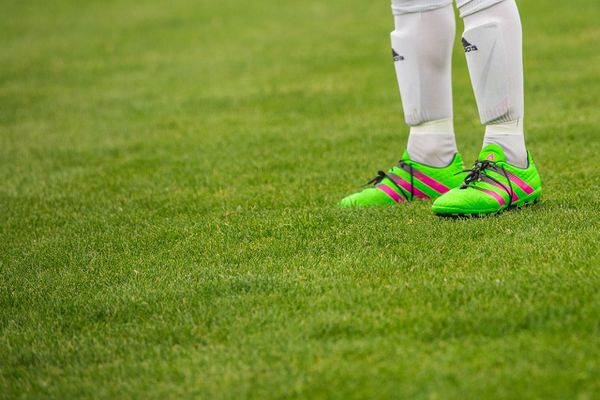 Jambes de footballeur