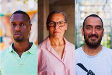 De gauche à droite : Luc Pinto Barreto, Marie-Lydie Denis-Prianon et Patrice Guezello alias Papang