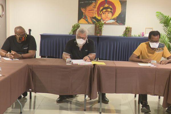 Conférence de presse du collectif Panga la santé pep gwyané a
