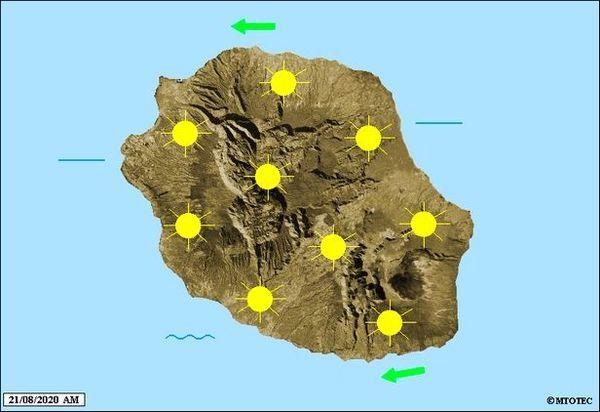 Carte météo 21 août 2020
