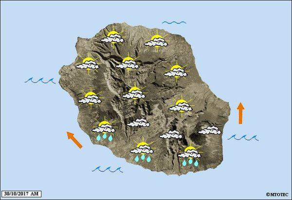 Carte météo lundi 30 octobre 2017