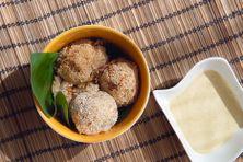 Croquettes de riz aux harengs et légumes péyi, la recette proposée par Maïka Radjouki pour Plézi manjé