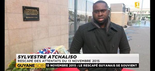Attentats de Paris : Sylvestre Atchaliso, Guyanais, l'un des rescapés des attentats du 13 novembre 2015