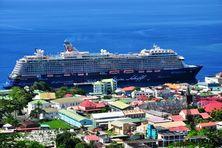 Paquebot de croisière dans la Caraïbe.