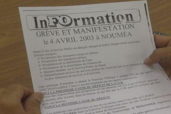 Appel à la mobilisation du 4 avril 2003