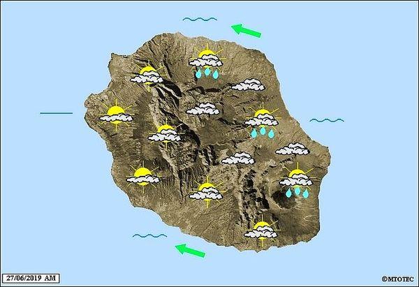 Carte météo 27 juin 2019