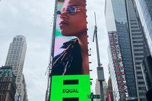 La chanteuse Meryl sur les murs de New-York.