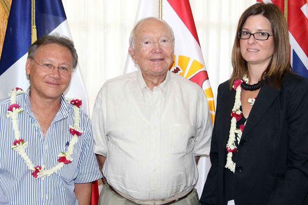 Gaston Flosse et la Consul d'Australie