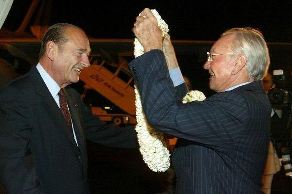 Avec Gaston Flosse 2003