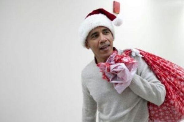 Obama, en père Noël