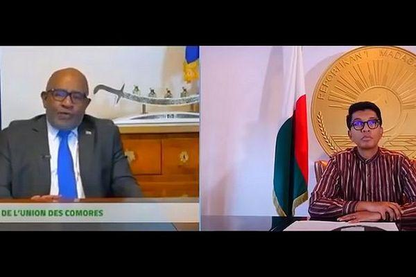 Echange entre Azali et Rajoelina et commande de CVO par les Comores