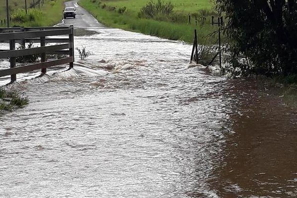 Le radier de Nepou submergé ce jeudi 18 février, Poya