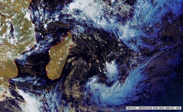 Image satellite de l'océan indien avril 2018