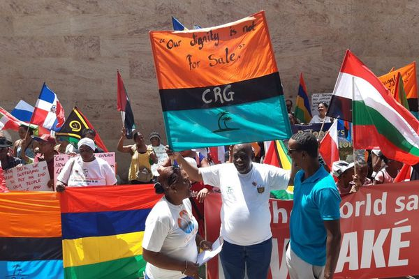 Manif Maurice Chagos